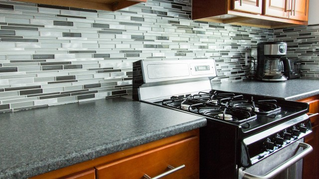 Mayne Holdings renovated kitchen counter and backsplash